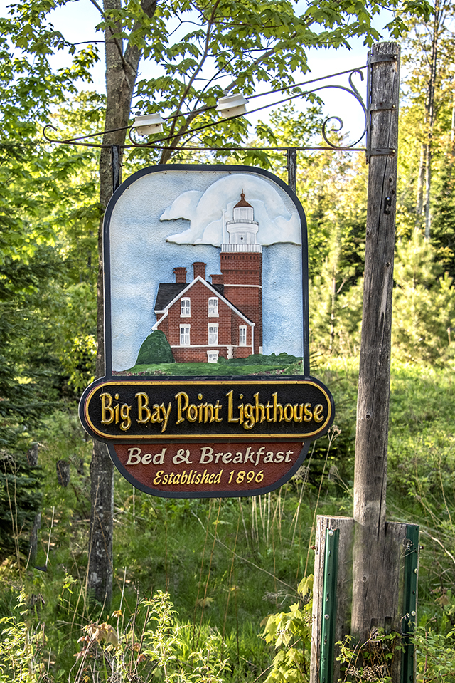 Big Bay Point Lighthouse Sign